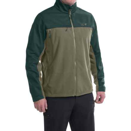 Mountain Hardwear Mountain Tech II Jacket - AirShield Fleece (For Men) in Stone Green/Black - Closeouts