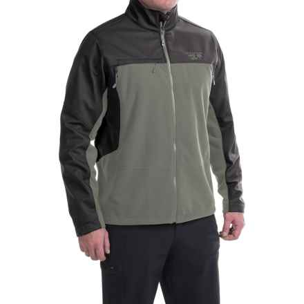 Mountain Hardwear Mountain Tech II Jacket - AirShield Fleece (For Men) in Titanium/Shark - Closeouts