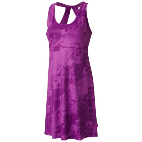 Mountain Hardwear Nambia Printed Dress - Built-In Bra, Racerback, Sleeveless (For Women) in Berry Jam