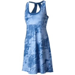 Mountain Hardwear Nambia Printed Dress - Built-In Bra, Racerback, Sleeveless (For Women) in Cool Wave