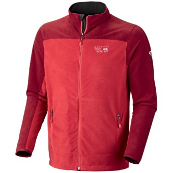 Mountain Hardwear Nansen Jacket - Fleece (For Men) in Cherry Bomb/Red Velvet