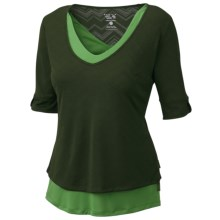 Mountain Hardwear Navandella Shirt - Elbow Sleeve (For Women) in Alpine Green - Closeouts