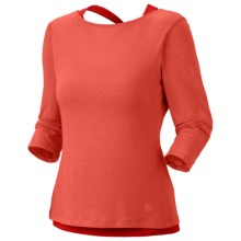 Mountain Hardwear Navassa Shirt - Elbow Sleeve (For Women) in Corange/Poppy Red - Closeouts
