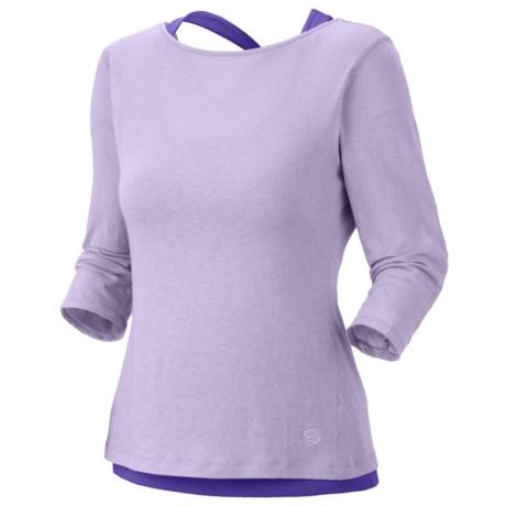 Mountain Hardwear Navassa Shirt - Elbow Sleeve (For Women) in Morning Mist/Husky