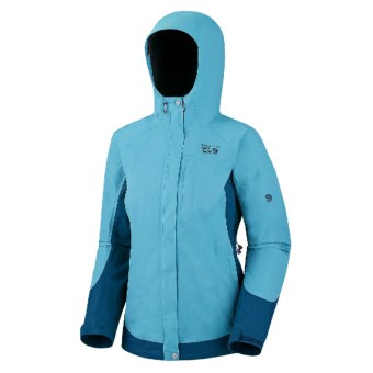 Mountain Hardwear Nazca Dry.Q Elite Jacket - Waterproof (For Women) in Oasis Blue/Jewel