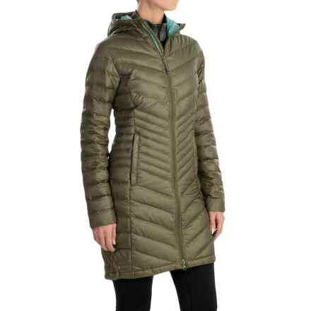 Mountain Hardwear Nitrous Hooded Down Parka - 800 Fill Power (For Women) in Stone Green - Closeouts