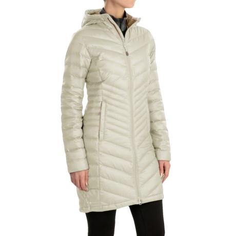 Mountain Hardwear Nitrous Hooded Down Parka - 800 Fill Power (For Women) in Stone