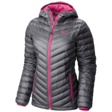 Mountain Hardwear Nitrous Q.Shield® Down Jacket - 800 Fill Power (For Women) in Graphite/Bright Rose - Closeouts