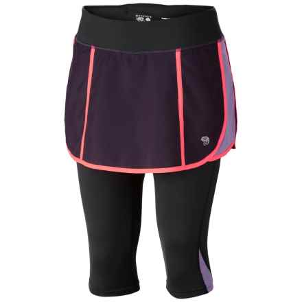 Mountain Hardwear Pacer 2-in-1 Skeggin Running Skort (For Women) in Dark Plum - Closeouts