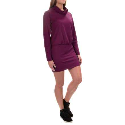 Mountain Hardwear Pandra Better Butter Dress - UPF 50, Long Sleeve (For Women) in Dark Raspberry - Closeouts