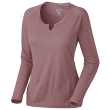 Mountain Hardwear Pandra T-Shirt - Long Sleeve (For Women) in Clay Rose - Closeouts