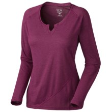 Mountain Hardwear Pandra T-Shirt - Long Sleeve (For Women) in Red Onion - Closeouts