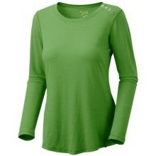 Mountain Hardwear Parika T-Shirt - Cotton Jersey, Long Sleeve (For Women) in 357 Palm - Closeouts