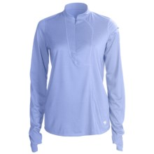 Mountain Hardwear Passage Point Pullover Shirt - Zip Neck, Long Sleeve (For Women) in Air - Closeouts