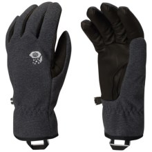Mountain Hardwear Perignon Wind-Blocking Gloves (For Women) in Black - Closeouts
