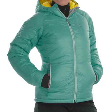 Mountain Hardwear Phantom™ Hooded Down Jacket - 850 Fill Power (For Women) in Spruce Blue - Closeouts