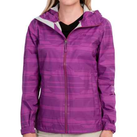 Mountain Hardwear Plasmic Geo Dry.Q® Evap Jacket (For Women) in Berry Jam - Closeouts