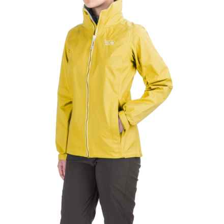 Mountain Hardwear Plasmic Ion Dry.Q Evap Jacket - Waterproof (For Women) in Lemon Twist - Closeouts