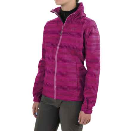 Mountain Hardwear Plasmic Ion Printed Jacket - Waterproof (For Women) in Red Plum - Closeouts