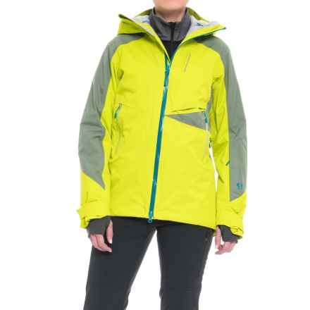 Mountain Hardwear Polara Ski Jacket - Waterproof, Insulated (For Women) in Fresh Bud/Green Fade - Closeouts