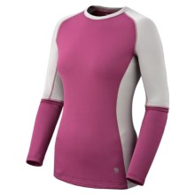 Mountain Hardwear Polartec® Micro Power Stretch® Base Layer Top - Long Sleeve (For Women) in Cerise/Cool Grey - Closeouts