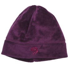 Mountain Hardwear Posh Dome Beanie Hat - Voluptuous Velboa Fleece (For Women) in Black Cherry - Closeouts