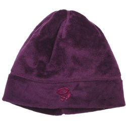 Mountain Hardwear Posh Dome Beanie Hat - Voluptuous Velboa Fleece (For Women) in Black