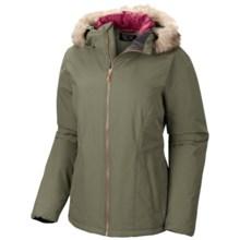 Mountain Hardwear Potrero Bomber Jacket - Removable Faux-Fur Trim (For Women) in Stone Green - Closeouts