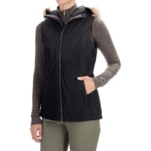 Mountain Hardwear Potrero Thermal.Q Hooded Vest (For Women) in Black/Black - Closeouts