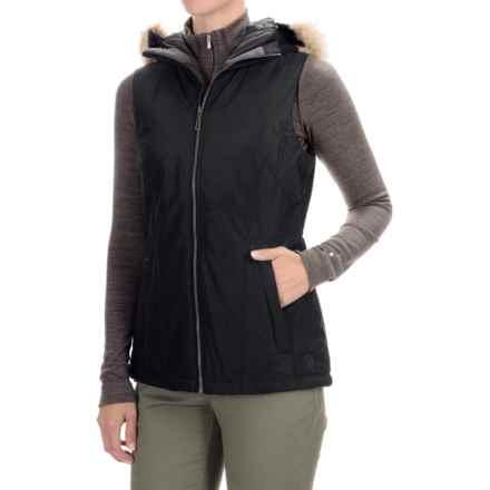 Mountain Hardwear Potrero Thermal.Q Hooded Vest (For Women) in Black/Black - Closeouts
