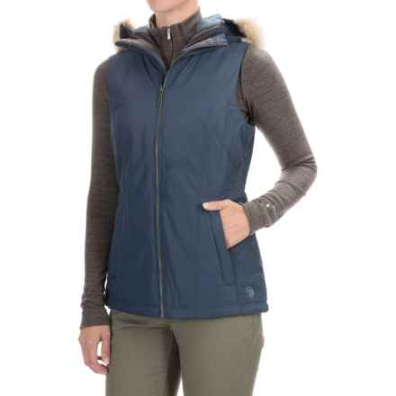 Mountain Hardwear Potrero Thermal.Q Hooded Vest (For Women) in Zinc - Closeouts