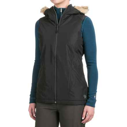 Mountain Hardwear Potrero Vest - Insulated, Hooded (For Women) in Black - Closeouts