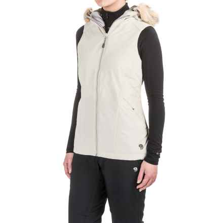 Mountain Hardwear Potrero Vest - Insulated, Hooded (For Women) in Stone - Closeouts