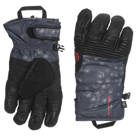 Mountain Hardwear Powder Maven Glove - Waterproof, Insulated, Leather (For Women) in Inkwell - Closeouts