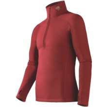 Mountain Hardwear Power Stretch® Base Layer Top - Reversible, Midweight, Long Sleeve (For Men) in Thunderbird Red - Closeouts