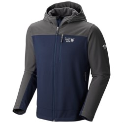 Mountain Hardwear Principio Soft Shell Jacket - UPF 50 (For Men) in Collegiate Navy/Hark