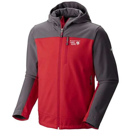 Mountain Hardwear Principio Soft Shell Jacket - UPF 50 (For Men) in Mountain Red/Shark