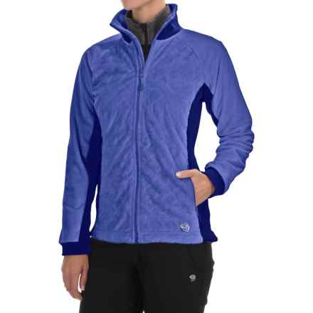 Mountain Hardwear Pyxis Stretch Fleece Jacket (For Women) in Bright Bluet/Dynasty - Closeouts