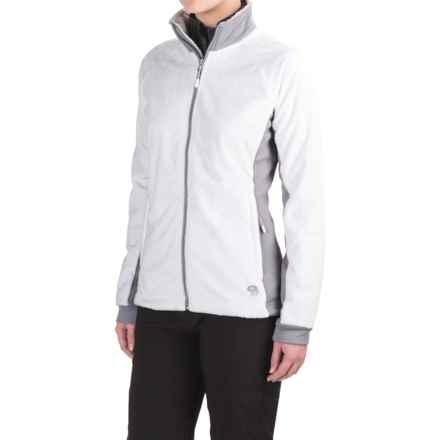 Mountain Hardwear Pyxis Stretch Fleece Jacket (For Women) in White/Steam - Closeouts