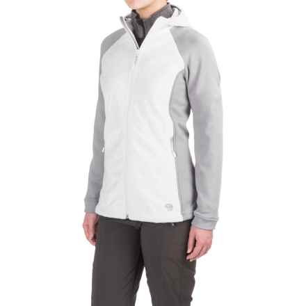 Mountain Hardwear Pyxis Stretch Fleece Jacket (For Women) in White/Steam - Closeouts