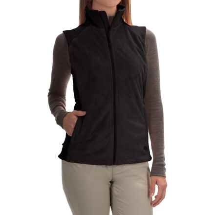 Mountain Hardwear Pyxis Stretch Fleece Vest (For Women) in Black - Closeouts