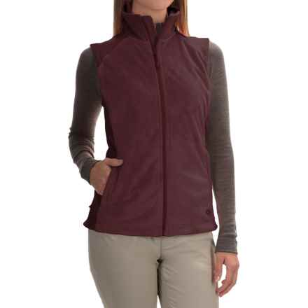 Mountain Hardwear Pyxis Stretch Fleece Vest (For Women) in Purple Plum - Closeouts