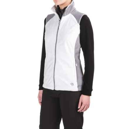 Mountain Hardwear Pyxis Stretch Fleece Vest (For Women) in White/Steam - Closeouts