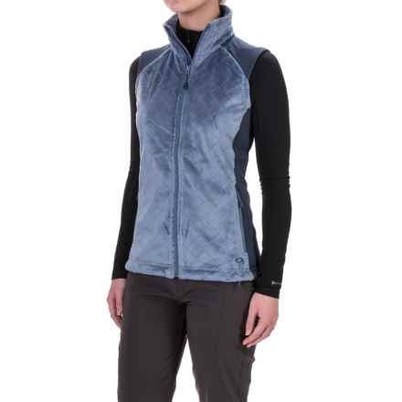 Mountain Hardwear Pyxis Stretch Quilted Vest - Fleece (For Women) in Mountain/Zinc - Closeouts