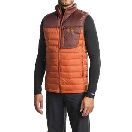 Mountain Hardwear Q.Shield® Dynotherm Down Vest - 650 Fill Power, Full Zip (For Men) in Dark Copper/Redwood - Closeouts
