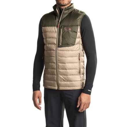 Mountain Hardwear Q.Shield® Dynotherm Down Vest - 650 Fill Power, Full Zip (For Men) in Fossil/Peatmoss - Closeouts