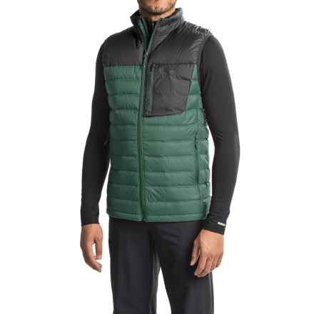 Mountain Hardwear Q.Shield® Dynotherm Down Vest - 650 Fill Power, Full Zip (For Men) in Thunderhead Grey/Black - Closeouts