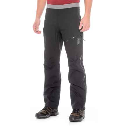 Mountain Hardwear Quasar Dry.Q® Elite Lite Pants - Waterproof (For Men) in Black - Closeouts