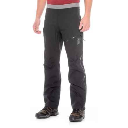 Mountain Hardwear Quasar Dry.Q® Elite Lite Pants - Waterproof (For Men) in Black - Closeouts