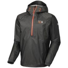 Mountain Hardwear Quasar Dry.Q Elite Pullover Jacket - Waterproof (For Men) in Shark - Closeouts